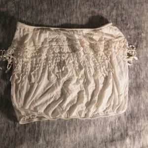 Frilly bandeau top